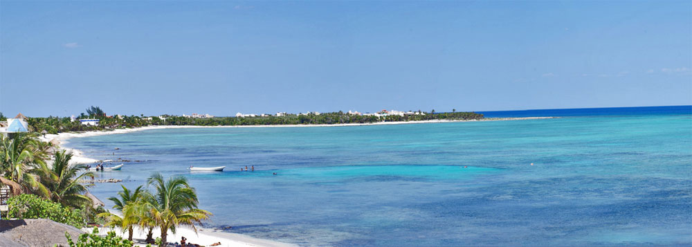 view of tankah bay tulum from casa soleada